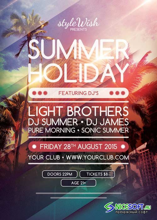 Summer Holiday V12 Flyer Template