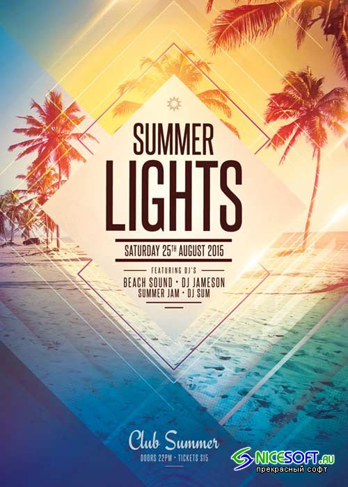 Summer Lights V7 Flyer Template