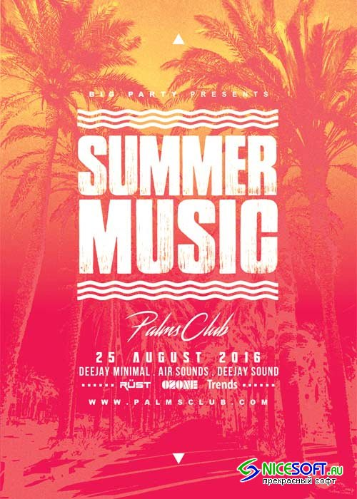 Summer Music V12 Flyer Template