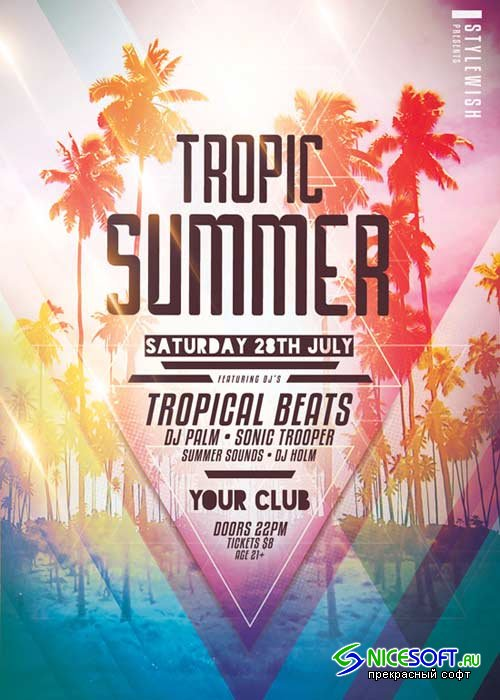 Tropic Summer V18 Flyer Template