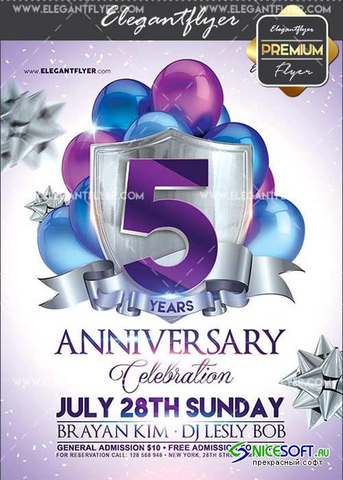 Anniversary V11 Flyer PSD Template + Facebook Cover