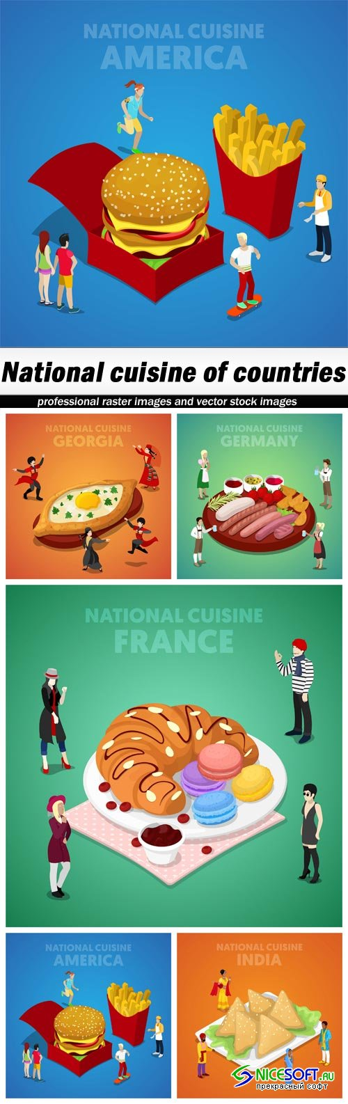 National cuisine of countries - 5 EPS
