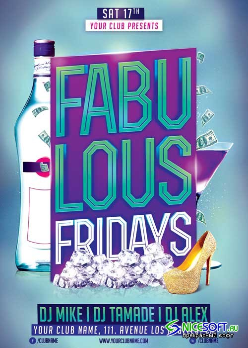 Fabulous Fridays V3 Flyer Template