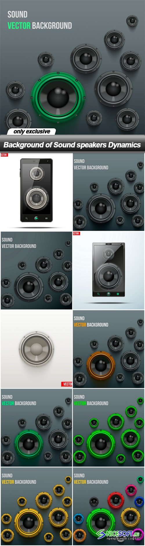 Background of Sound speakers Dynamics
