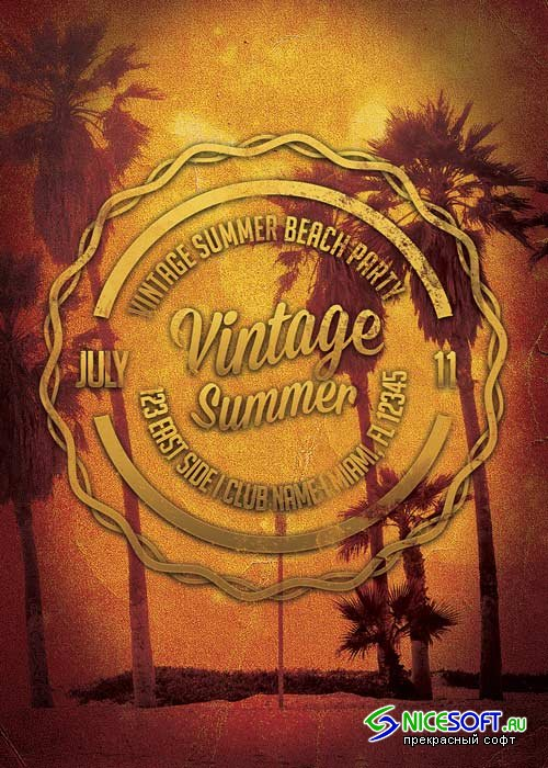 Vintage Summers V14 Flyer Template