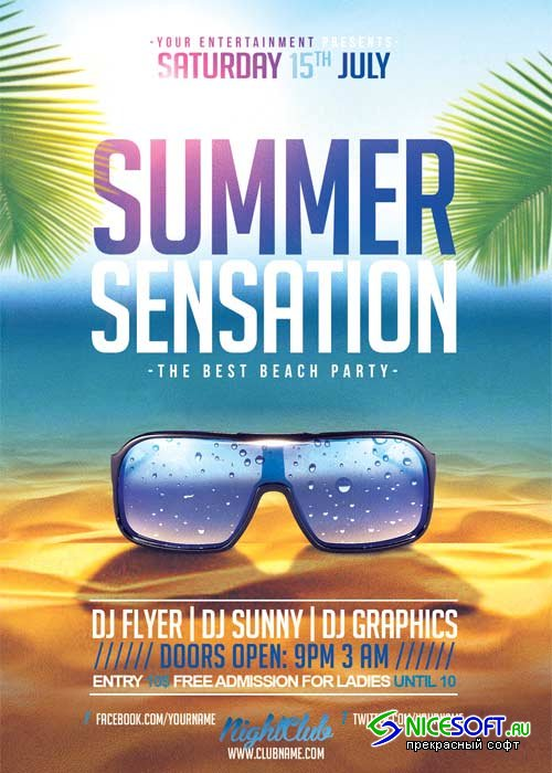Summer Sensation V21 Flyer Template