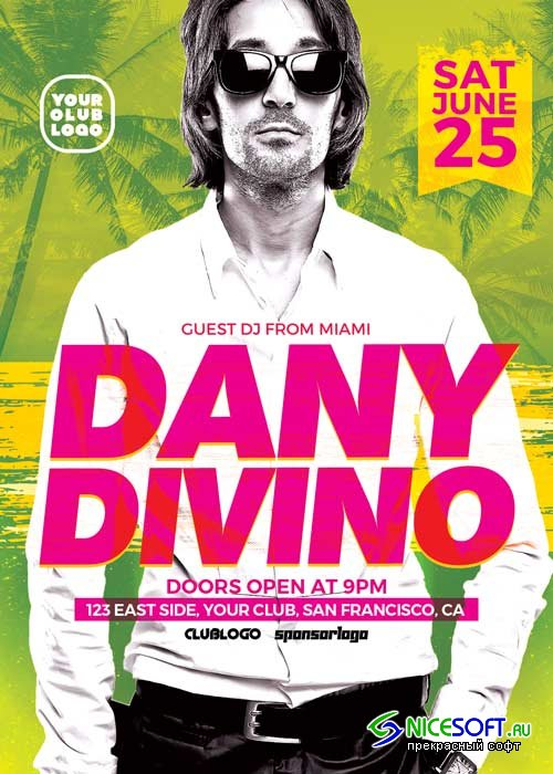 DJ Dany Club Party V7 Flyer Template
