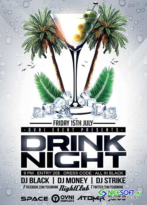 DRINK NIGHT V31 Flyer Template