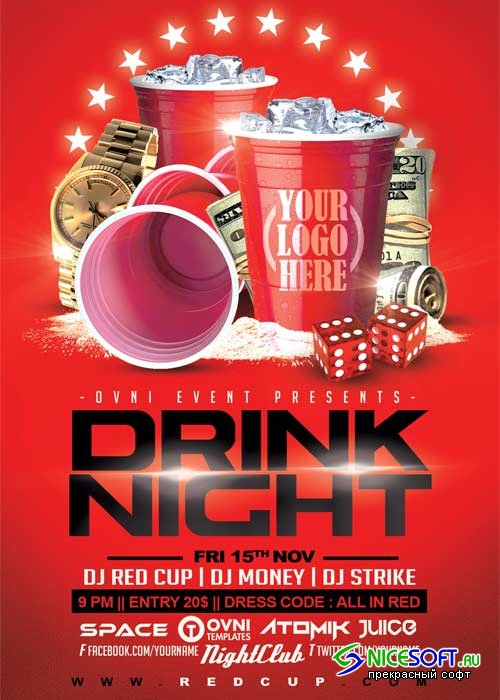 DRINK NIGHT V32 Flyer Template