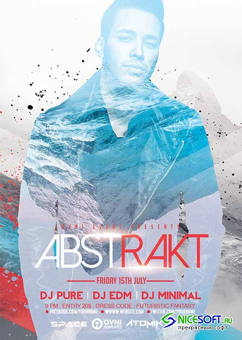 ABSTRAKT V28 Flyer Template