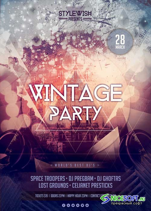 Vintage Party V15 Flyer Template