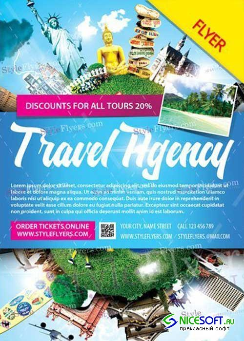 Travel Agency V20 PSD Flyer Template
