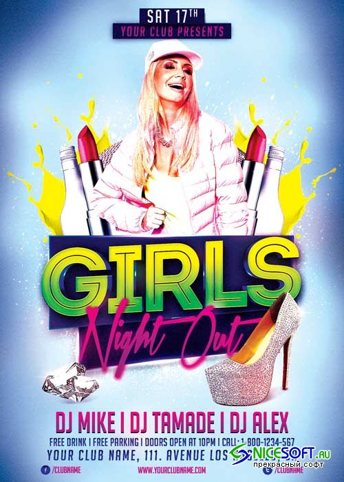 Girls Night Out V12 Flyer Template
