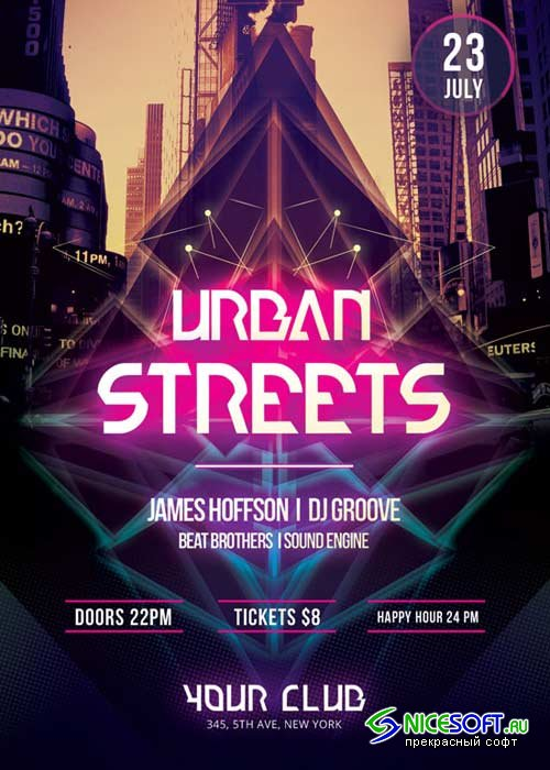 Urban Streets V16 Flyer Template