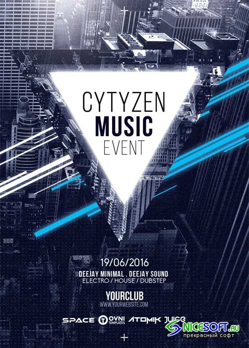 Citizen Music V11 Flyer Template