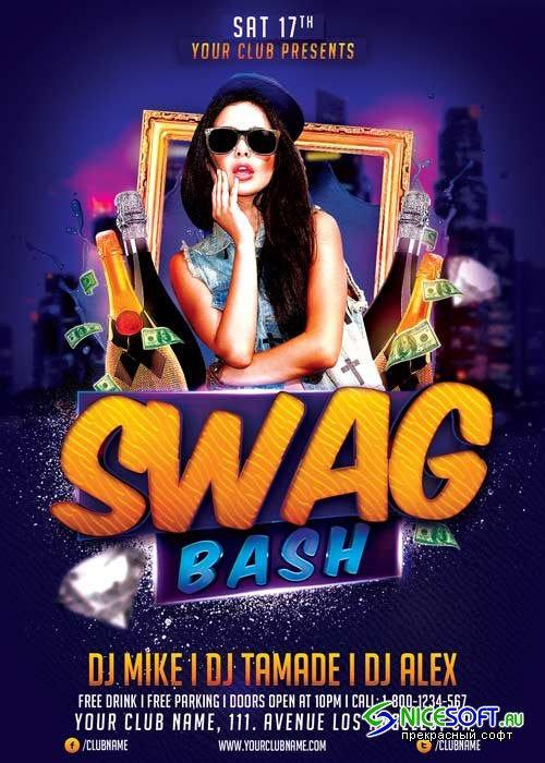 Swag Bash V18 Flyer Template