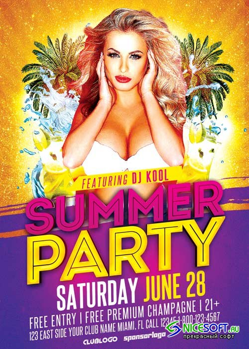 Summer Party V33 Flyer Template
