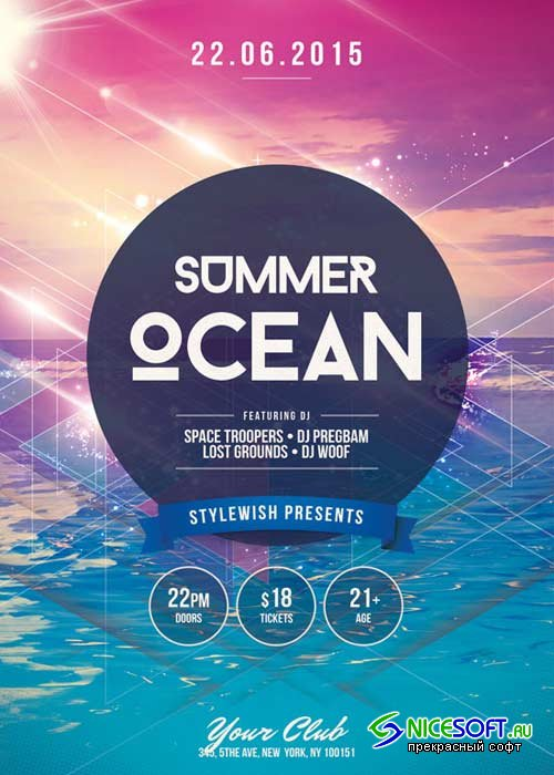 Summer Ocean V16 Flyer Template