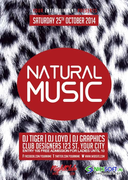 NATURAL MUSIC V12 Flyer Template