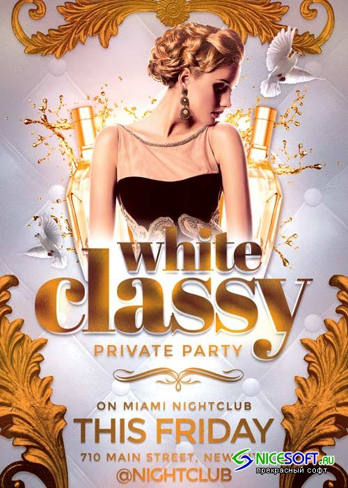 Classy Party V12 Flyer Template