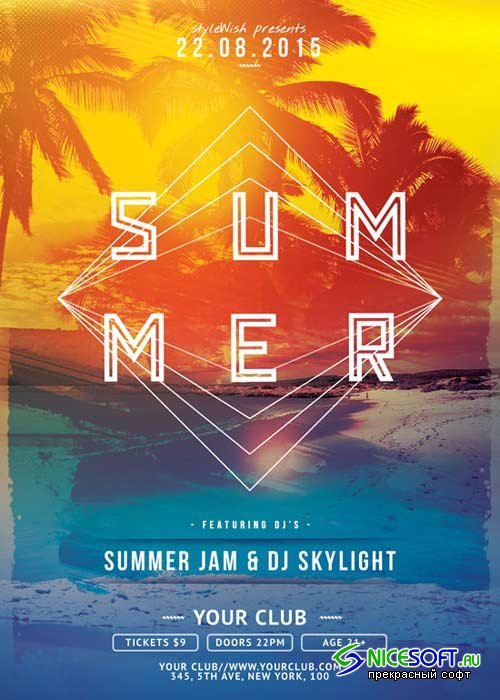 Summer V44 Flyer Template