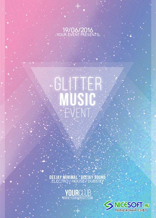 Glitter Music Event V14 Flyer Template
