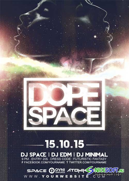 DOPE SPACE V5 Flyer Template