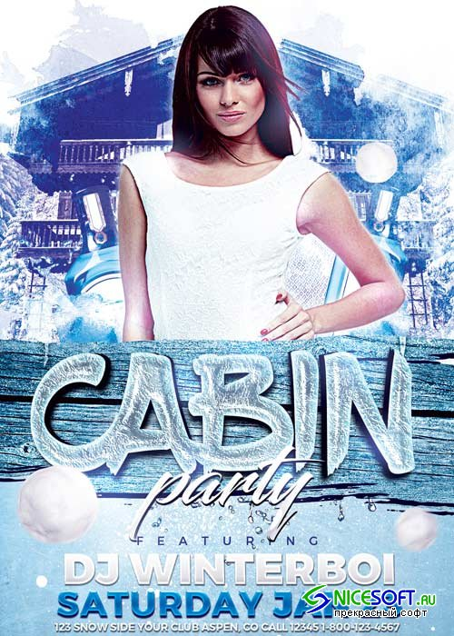 Cabin Party V12 Flyer Template