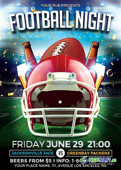 Football Night V18 Flyer Template