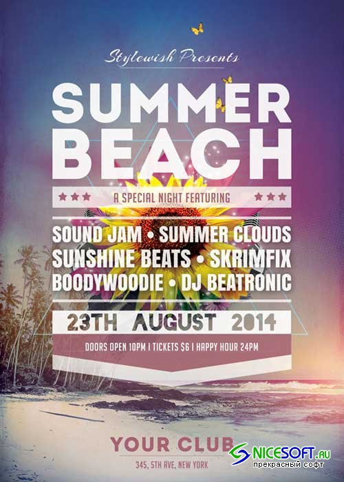 Summer Beach V27 Flyer Template