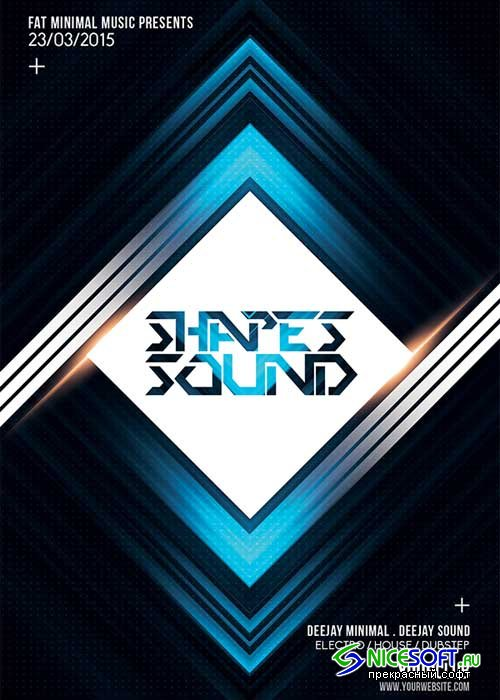 Shapes Sound V20 Flyer Template