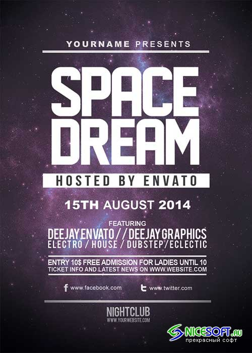 Space Dream V7 Flyer Template
