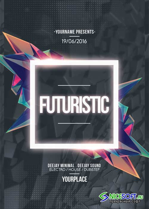 Futuristic V20 Flyer Template