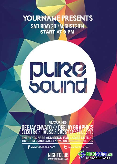 Pure Sound V21 Flyer Template