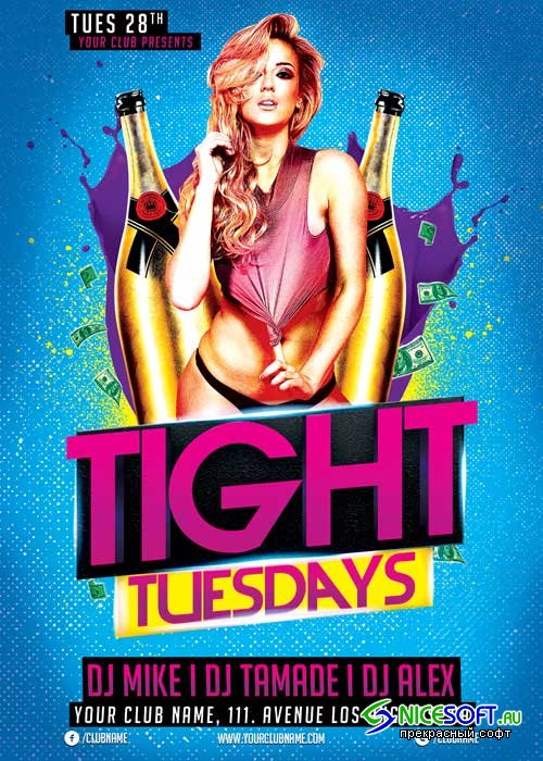 Tight Tuesdays V19 Flyer Template