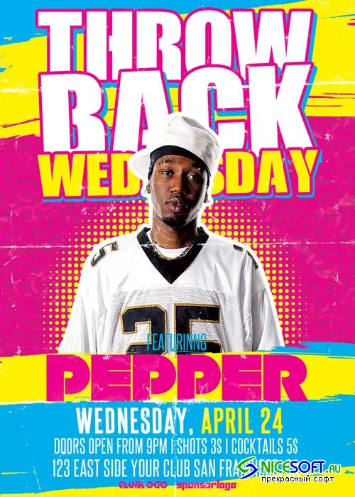 Throwback Wednesday V19 Flyer Template