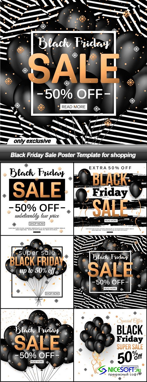 Black Friday Sale Poster Template for shopping