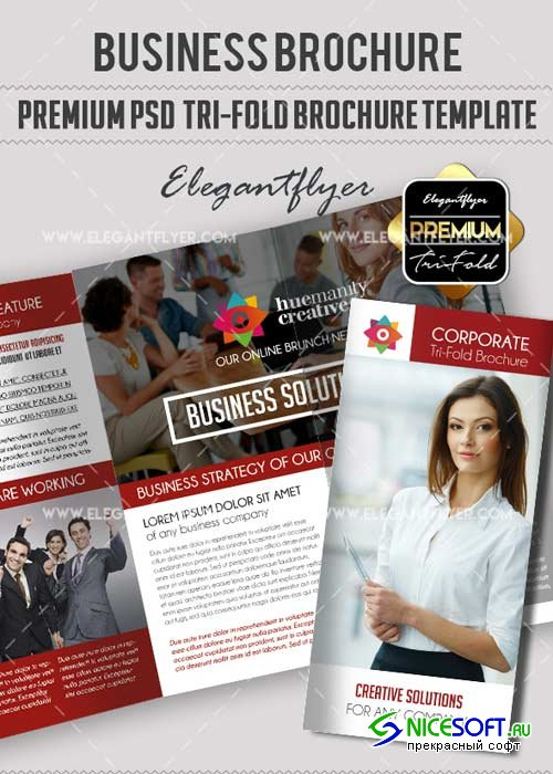 Business V25 Premium Tri-Fold PSD Brochure Template