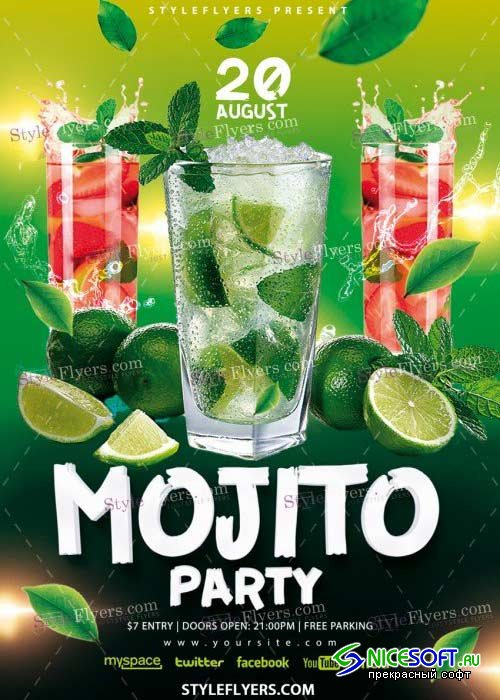 Mojito Party V27 PSD Flyer