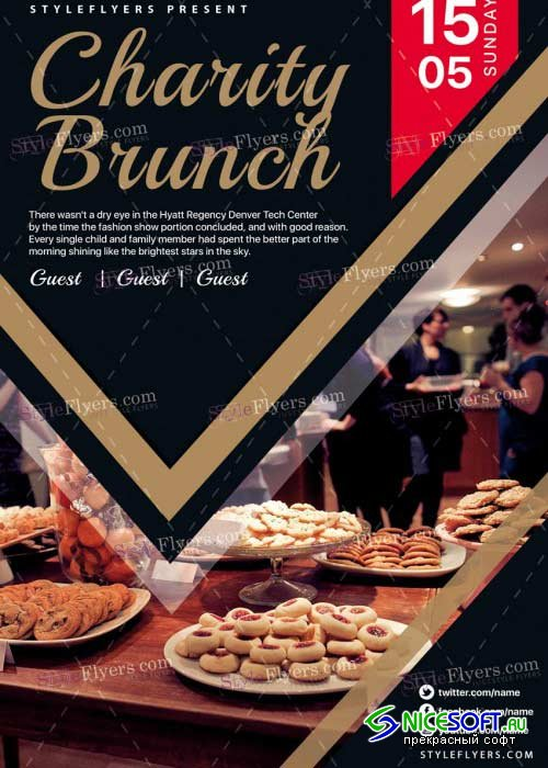 Charity Brunch V19 PSD Flyer Template