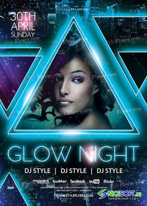 Glow Night V25 PSD Flyer Template