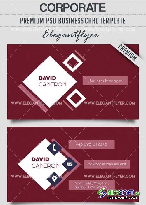 Corporate V9 Business Card Templates PSD