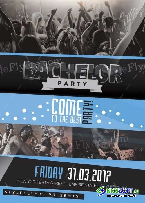 Bachelor Party V25 PSD Flyer Template