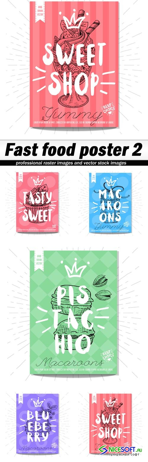Fast food poster 2 - 5 EPS