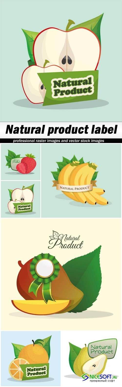Natural product label - 6 EPS