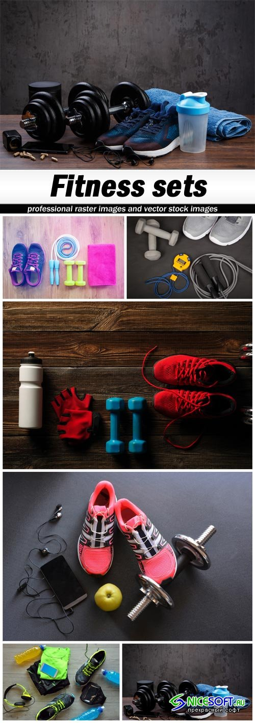 Fitness sets - 6 UHQ JPEG