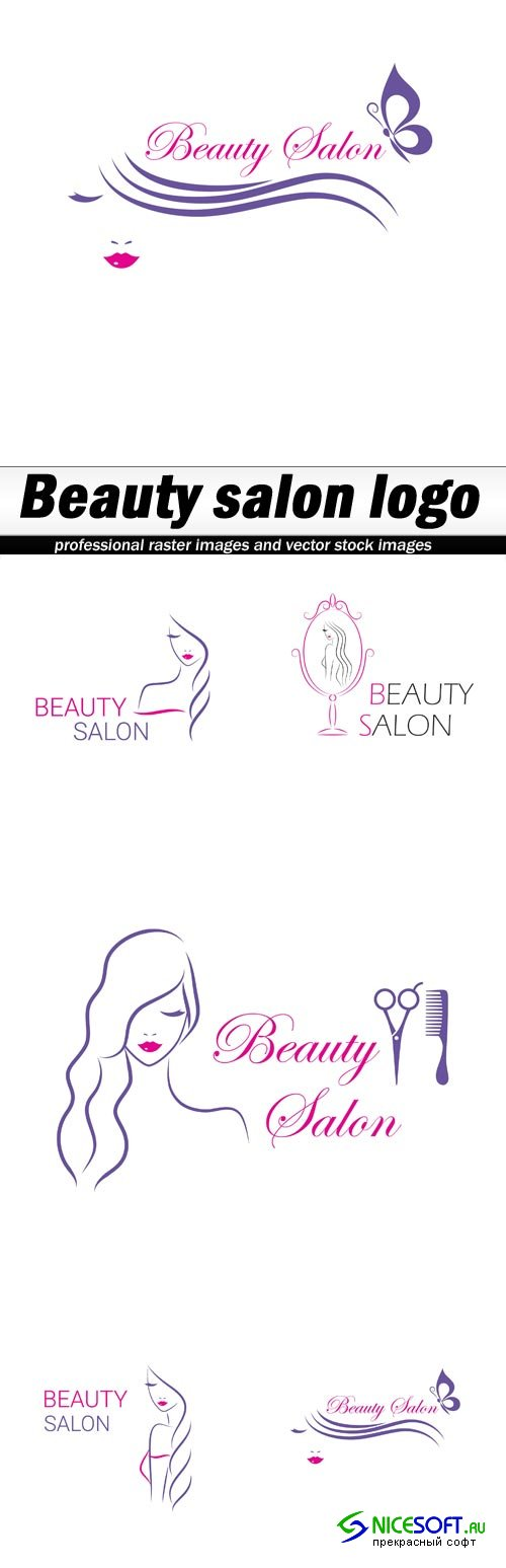 Beauty salon logo - 5 EPS