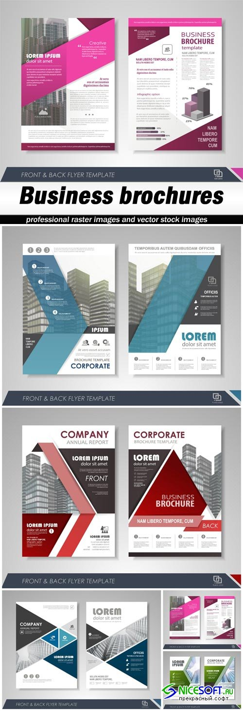 Business brochures - 5 EPS
