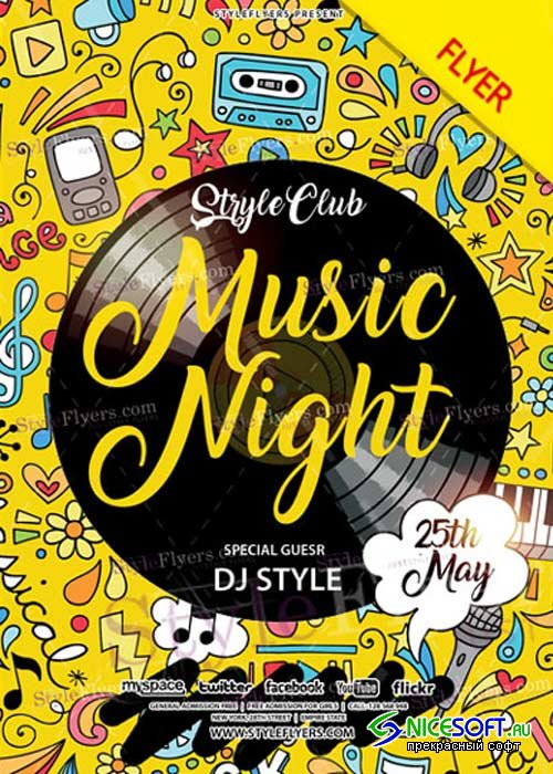 Music Night V22 Flyer PSD Template