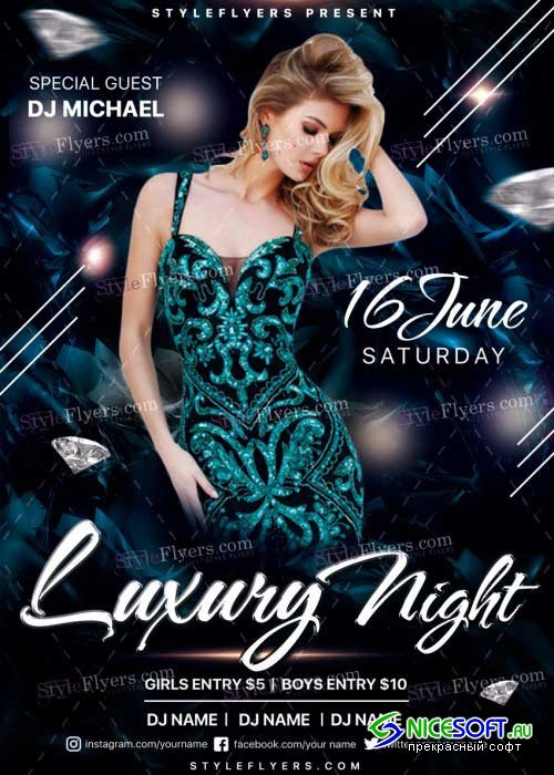 Luxury Night V22 PSD Flyer Template
